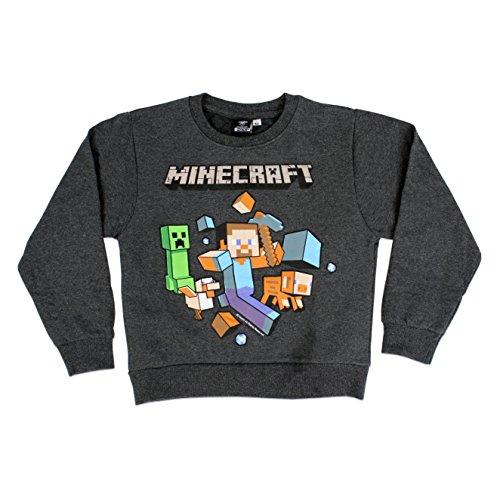 Minecraft - Felpa per ragazzi - 5 a 6 Anni
