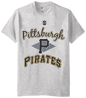 MLB Pittsburgh Pirates Men's 58T Tee, Steel Heather, Large