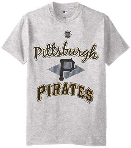 MLB Pittsburgh Pirates Men's 58T Tee, Steel Heather, Large