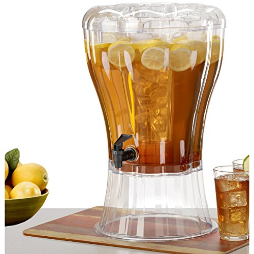 Buddeez Unbreakable 3-1/2-Gallon Beverage Dispenser with Removable Ice-Cone (Plastic Beverage Pitcher compare prices)