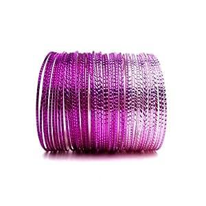 Shades of Violet Set of 50 Stacking Bangle Bracelets