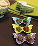 Ceramic Butterfly Dishes / Holders - Deep Lavender package of 6