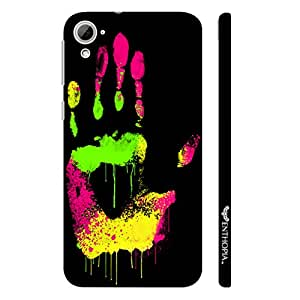 HTC Desire 826 Coloured Hand Print designer mobile hard shell case by Enthopia