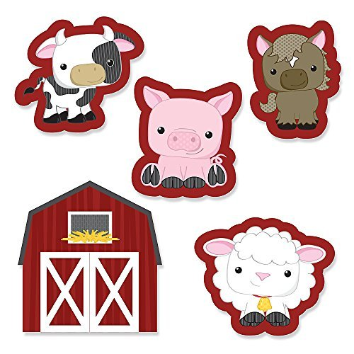 Farm Animals - Shaped Party DIY Cut-Outs - 24 Count