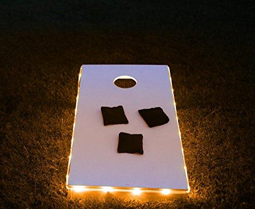 Brightz, Ltd. Orange Toss Brightz LED Lights Cornhole Board Accessory (Corn Hole Night Lights compare prices)