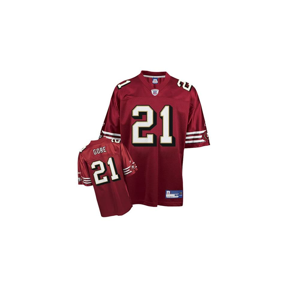 e9dd86e952c Frank Gore  21 San Francisco 49ers NFL Replica Player Jersey By Reebok  (Team Color
