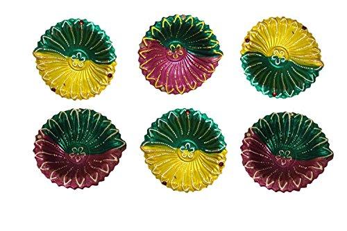 Home Décor Diwali Terracotta Diya, Set of 6 Designer Diya