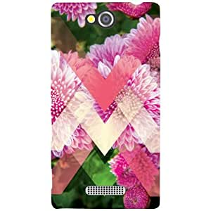 Sony Xperia C Back Cover - Pink Colored Designer Cases