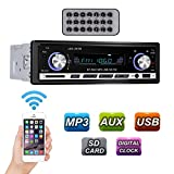 GHB Car Stereo Single Din Bluetooth Radio for Car FM Receiver with MP3 Radio Player and Remote Control