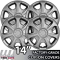 2000-2004 Toyota Avalon 14 Inch Silver Metallic Clip-On Hubcap Covers