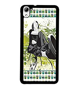 PrintDhaba Girly D-4185 Back Case Cover for HTC DESIRE 826 (Multi-Coloured)