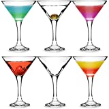 City Martini Cocktail Glasses 175ml - Set of 6 - Gift Boxed Classic V Shaped Martini Glasses for Serving Cocktails
