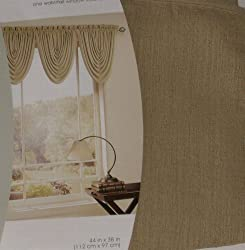 Home Gold Waterfall Window Valance Topper Curtain