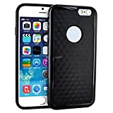 myLife Charcoal Black {Contemporary Design} 2 Layer Hybrid Case for the NEW iPhone 6 (6G) 6th Generation Phone... by myLife Brand Products