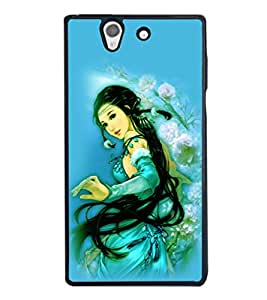 printtech Beautiful Anime Chinese Girl Back Case Cover for Sony Xperia Z , Sony Xperia Z L36h