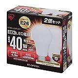 アイリスオーヤマ LED電球 E26口金 40W形相当 電球色 広配光タイプ 2個セット 密閉形器具対応 LDA5L-G-4T22P