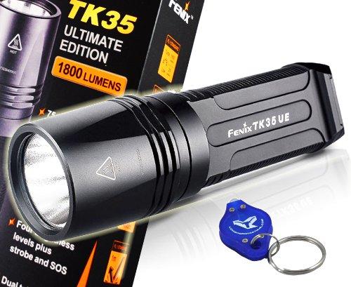 Fenix Tk35 Ue Ultimate Edition 1800 Lumens Cree Mt-G2 Led Flashlight W/ A Bright Lumentac Keychain Light - Use 2X18650 Batteries