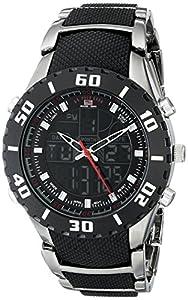 U.S. Polo Assn. Sport Men's US8163 Bracelet Watch with Black and Gun Metal Band