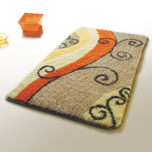 Naomi - [Flourish] Wool Throw Rugs (17.7 by 25.6 inches)