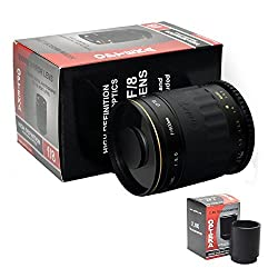 Opteka 500-1000mm f/8 High Definition Telephoto Mirror Lens for Canon EOS 1D 5D 6D 7D 10D 20D 30D 40D 50D 60D Rebel XT XTi XS XSi T1i T2i T3 T3i and T4i Digital SLR Cameras