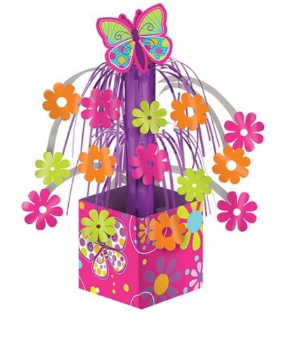 Creative Converting Butterfly Sparkle Mini Foil Cascade Centerpiece