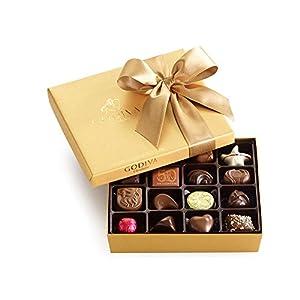 Godiva Chocolatier Classic Gold Ballotin Candy, 19 Count
