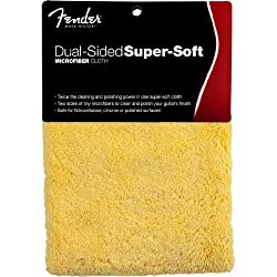 Fender Accessories 099-0524-000 Dual-Sided Super-Soft Microfiber Cloth by Fender Musical Instruments Corp.