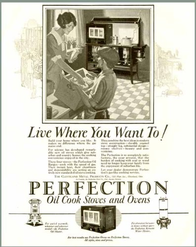 Great 1925 Perfection Brand Oil Cook Stoves & Ovens Ad Original Paper Ephemera Authentic Vintage Print Magazine Ad / Article