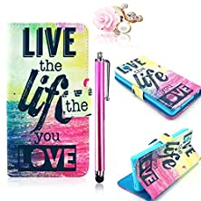 buy Vandot 3 In 1 Set Wallet Case For Samsung Galaxy A3 3D Patterned Pu Leather With Flip Holster Pouch Credit Card Slot Hole Magnetic Button Book Shell Bag With Anti Dust Plug And Metal Touch Pen.(Live The Life You Love)