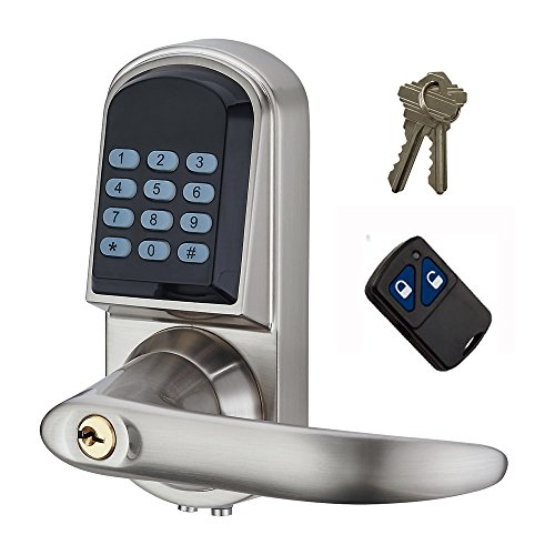 HAIFUAN Right Hand Electronic Keyless Code Door Lock,Unlock With Code, Remote control, And Mechanical Key (HFAS200RM) (Remote Unlock Door compare prices)