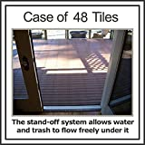 """Box of 48 tiles each EasyLink Deck Tile is 12"""" x 12"""" - 3rd Generation - Quick & Easy Outdoor or Indoor Flooring for all Hard"""