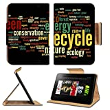 Luxlady Premium Amazon Kindle Fire HD 8.9 Flip Case Conceptual ecology word cloud concept IMAGE 36118191 Pu Leather Card Holder Carrying