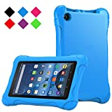 Fire 7 2015 Case - TIRIN Super Light Weight Standing Children Cover Kids Case for Amazon Fire 7 inch Display Tablet (only fit Fire 7