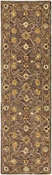 Gray Rug Classic Design 2-Foot 3-Inch x 12-Foot Hand-Made Traditional Wool Carpet