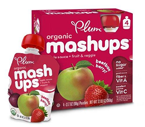 Plum Kids Organic Fruit Mashups, 4-Count (Pack of 6) (Packaging May Vary)