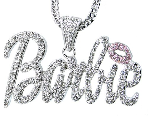 nicki minaj barbie necklace. Nicki Minaj Barbie Whiteamp; Pink