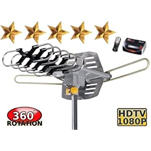 Details about HDTV Digital Outdoor Antenna TV 360å¡ UHF/VHF/FM 150 Miles Amplified Rotating LED