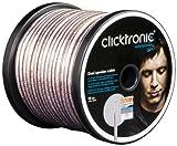Clicktronic Advanced Câble haut parleur double câble 2 x 25 mm² avec mélange de tresses en cuivre pur et de tresses plaquées argent 10 m