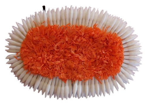 Orange Oval Plastic Hair Flower for all Indian classical dance hair styling and makeup