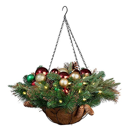 "Colors Of Christmas Led Hanging Basket-24"" - Improvements"