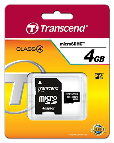 Transcend-4GB-MicroSDHC-Class-4-(19MB/s)-Memory-Card-(With-Adapter)