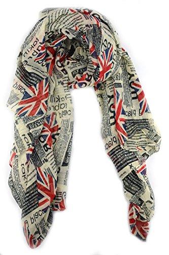 Lenikis Unisex British Flag Soft Light Weight Scarves H4703C1 (British Flag Union Jack compare prices)