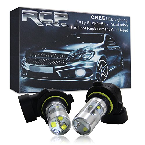 RCP -RF9006W - 2-Pack 45W Double Cone Reflector Anti-Aging Cree 360 Degree Light-emitting Aftermarket Replacement LED Fog light for Nissan (9006, White) (Colored Fog Light Bulbs compare prices)