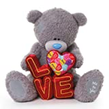 Me To You 20-inch Tatty Teddy Bear Holding Love Letters (Grey)