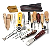 Hand Tools For Leather Leathercraft Set Kit Punch Stitching Sewing Leather Tools DIY Stamp Hand Gift