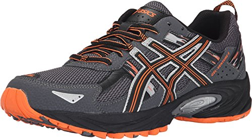 ASICS Men's GEL Venture 5 Running Shoe, Carbon/Black/Hot Orange, 10 M US (Asics Mens Running Shoes compare prices)