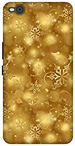 The Racoon Lean printed designer hard back mobile phone case cover for HTC One X9. (golden sno)