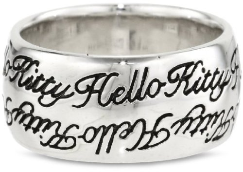 Simmons Hello Kitty Cursive Script Czech crystal ring ring 13-14 (US size 7) ladies [parallel import goods]