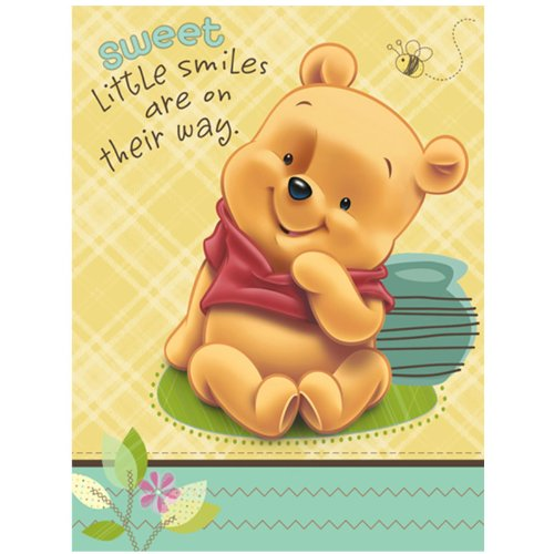 Baby Pooh And Friends Baby Shower Invitations (8 Count) front-1020174