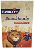 Barbara's Bakery Snackimals Animal Cookies, Chocolate Chip, 7.5-Ounce Bags (Pack of 6)